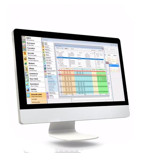 Ekran komputerowy przedstawiający różne procesy